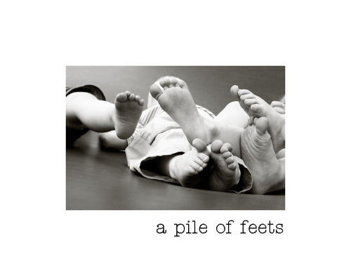 a pile of feets